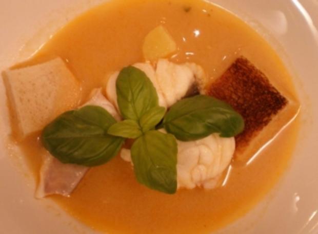 Provenzalische Fischsuppe mit Pfeffer-Knoblauchsoße - Rezept