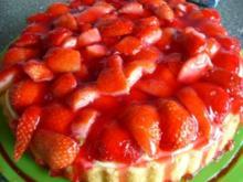Torte : Erdbeertorte   schnelle - Rezept