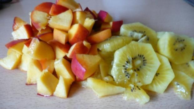 Pfirsich-Kiwi-Marmelade mit echter Bourbonvanille - Rezept - Bild Nr. 3