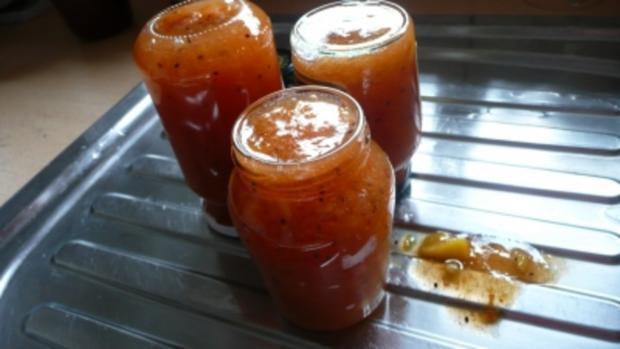 Pfirsich-Kiwi-Marmelade mit echter Bourbonvanille - Rezept - Bild Nr. 9