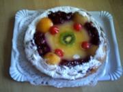 Ein Traum von Obst Auf Eine Vanillepuding Wolke - Rezept