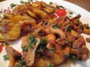 Schweineschnitzel mit frischen Pfifferlingen & Bratkartoffeln - Rezept