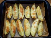 gebackene Kartoffelspalten - Rezept