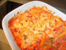 Nudel-Gemüse-Fleischwurst-Auflauf - Rezept