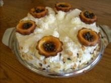 Gefüllte Maracuja-Torte mit Weißweincreme - Rezept