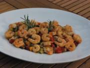 Antipasti: Garnelen auf Balsamico-Gemüse - Rezept