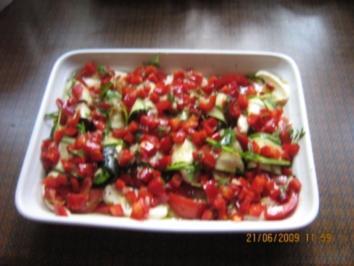 Zucchini-Mozarella-Päckchen - Rezept