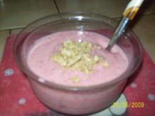 Yoghurt mit Obsteinlage - Rezept