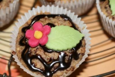 Schoko Bananen Haselnuss Muffin - Rezept