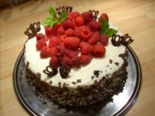Himbeer-Streifen-Torte - Rezept