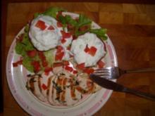 Gefüllte Tomaten zu Hähnchenfilet - Rezept