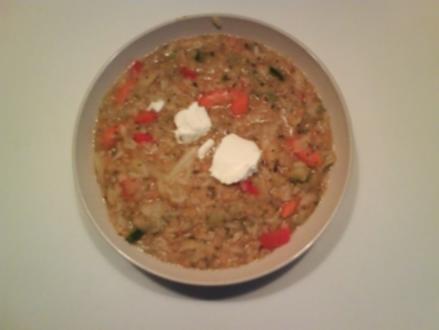 Eintopf: Gemüse-Reis-Rote-Linsen-Eintopf - Rezept