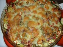Karoffelpizza bunt belegt - Rezept