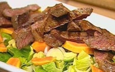 Papaya-Steak-Salat - Rezept