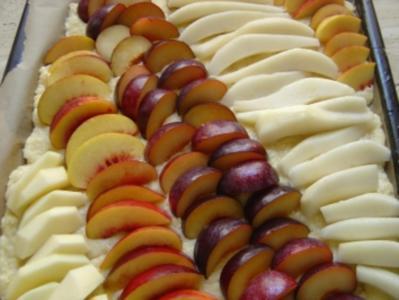 Obstkuchen vom Blech - Rezept
