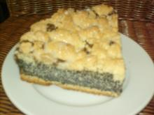 Mohnkuchen mit Streuseln - Rezept