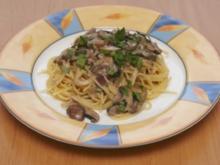 Champignonsoße für Spaghetti - Rezept