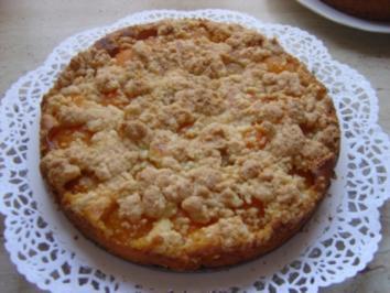 Aprikosen -Streuselkuchen - Rezept