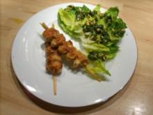 Salatherzen mit Kräuter-Sojakern-Pesto - Rezept