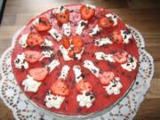 Erdbeer-Schachbrett-Torte - Rezept