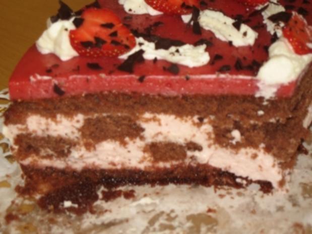 Erdbeer-Schachbrett-Torte - Rezept - Bild Nr. 10