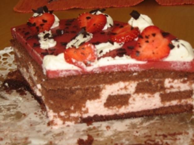 Erdbeer-Schachbrett-Torte - Rezept - Bild Nr. 11