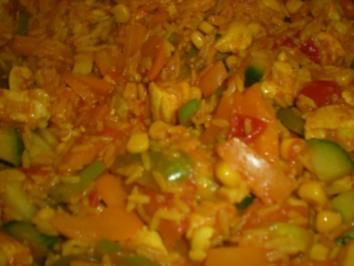 """Reis-Hühnerpfanne """"Mexico"""" - Rezept"""