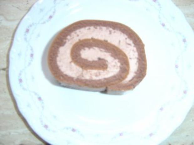 Biskuit-Schoko-Rolle - Rezept - Bild Nr. 3