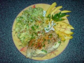 Mango-Mozzarella-Hähnchenbrustfilet - Rezept
