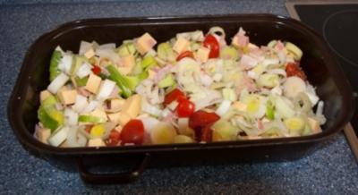 Kartoffelauflauf mit gekochtem Schinken - Rezept