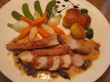 Kaninchenrückenfilet an Morchelsauce - Rezept