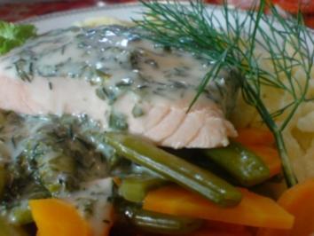 Rezept: Lachsfilet in Kräuter-Wein-Sauce