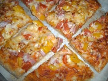 Pizza - Variante 1 - Rezept