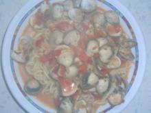 Venusmuscheln mit Spaghetti - Rezept