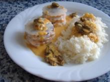 Lasagne von Kohlrabi und Lachs mit Hummersauce und Morcheln - Rezept