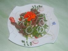 Bohnensalat mit Rinderstreifen - Rezept