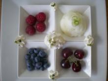 Limonen Eis mit Früchtevariationen - Rezept