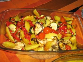Kartoffel-Gemüse vom Blech - Rezept