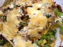 Überbackene Bandnudeln mit Broccoli - Rezept