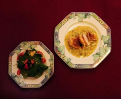 Beschwipstes Huhn mit Salat (Katerina Jacob) - Rezept