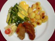"""""""Speklapjes"""" – Bauchspeck mit Spargelgemüse und Krielkartoffeln - Rezept"""