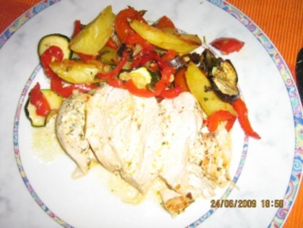 Kräuter - Hähnchenbrust mit Weißweinsößle - Rezept