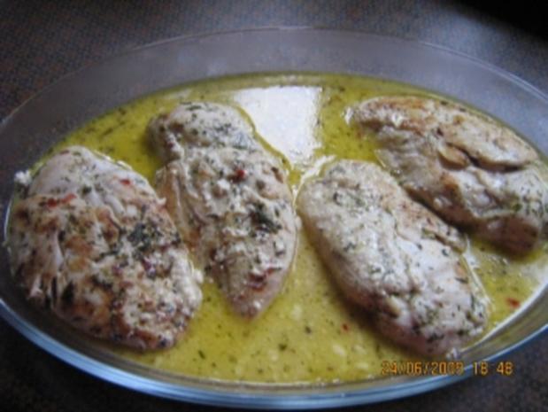 Kräuter - Hähnchenbrust mit Weißweinsößle - Rezept - Bild Nr. 7