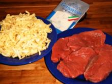 Kalbsschnitzel in Gorgonzolasoße - Rezept
