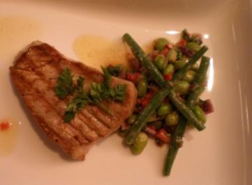 Grüner Bohnensalat mit gegrilltem Thunfisch - Rezept