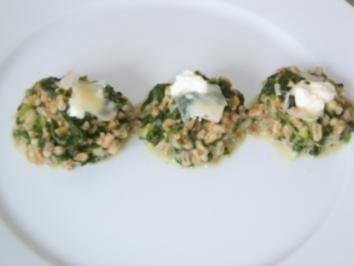Zartdinkel - Risotto mit Spinat und Weisswein - Rezept