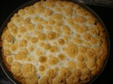 Kuchen: Rhabarberkuchen mit Baiserhaube - Rezept