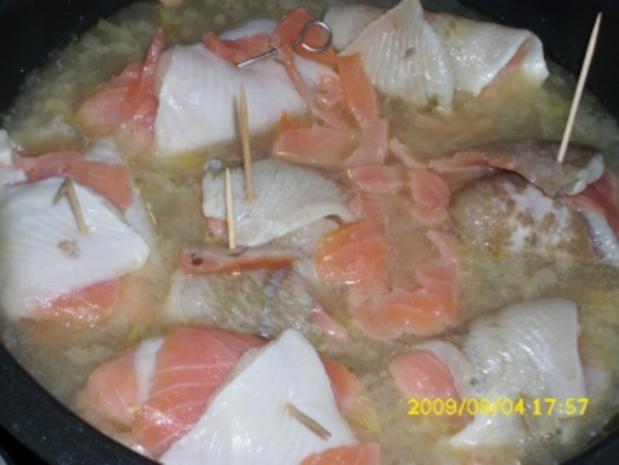 Fisch:  Schollen-Lachs-Röllchen - Rezept - Bild Nr. 4