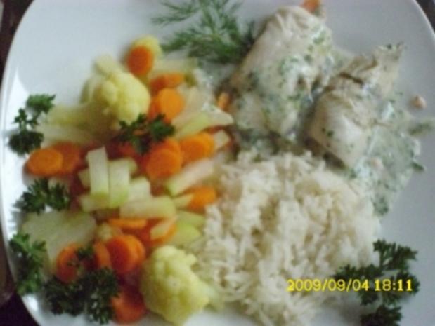 Fisch:  Schollen-Lachs-Röllchen - Rezept