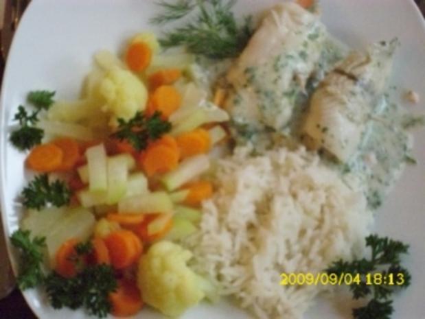 Fisch:  Schollen-Lachs-Röllchen - Rezept - Bild Nr. 5